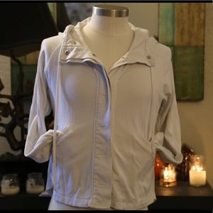 Cabi White Jacket with hoodie
